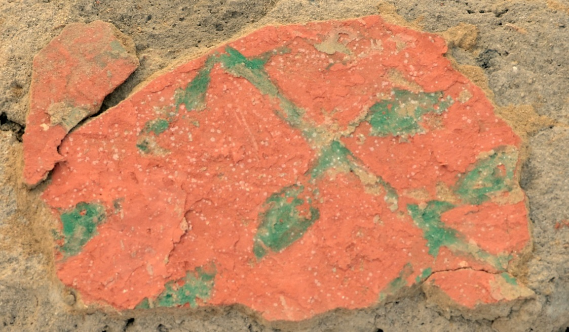Représentation d'un végétal au site B 15 de Pachacamac