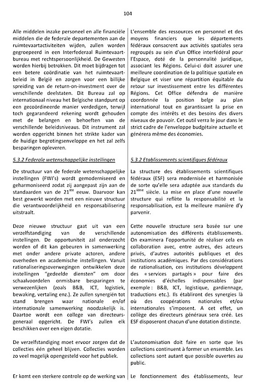 Accord de gouvernement 2014 Politique Scientifique (2)
