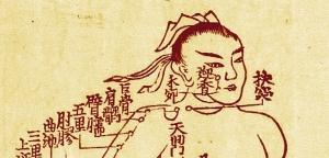 Médecines traditionnelles, points d'acupuncture.