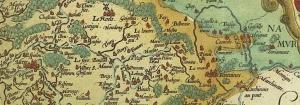Extrait de la carte du Hainaut de 1548, levée par le Montois Jacques de Surhon.