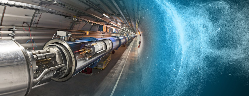 Section du LHC: une zone d'interconnection ouverte. © Dominguez, Daniel, Brice, Maximilien