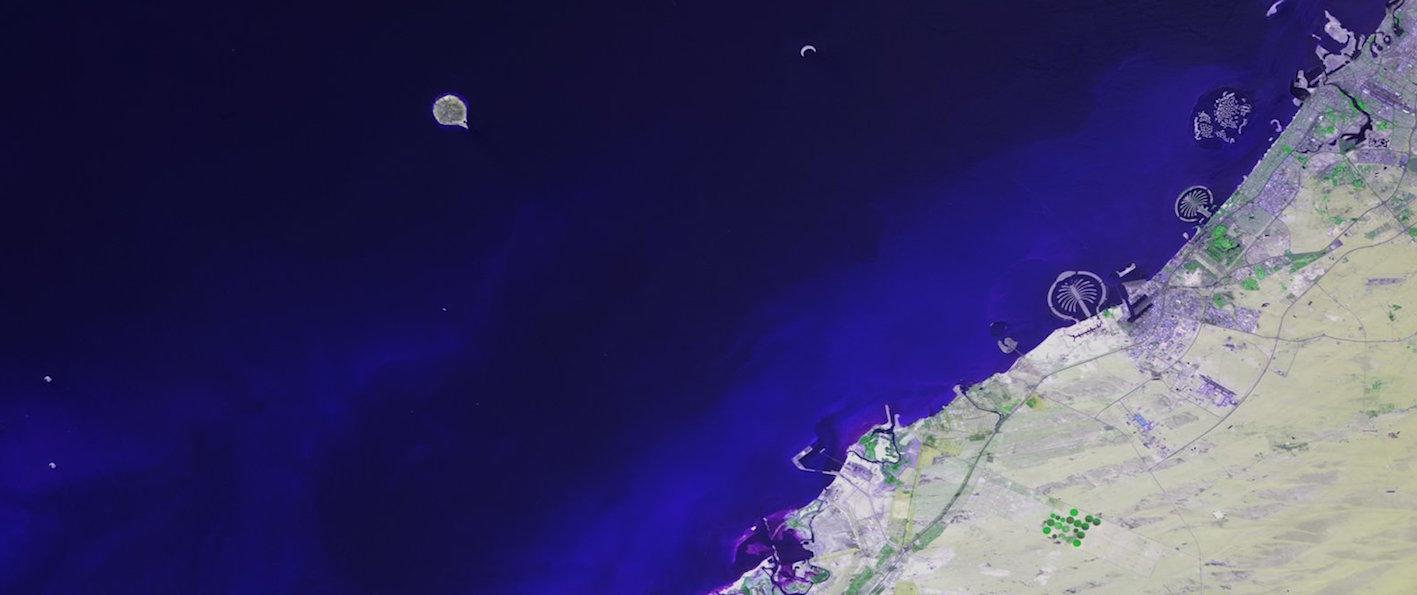 Les Emirats vus par le satellite Proba-V. © ESA-BELSPO/VITO