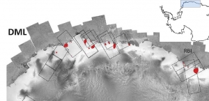 Relevé des dômes de glace en Antarctique (Terre de la Reine Maud).