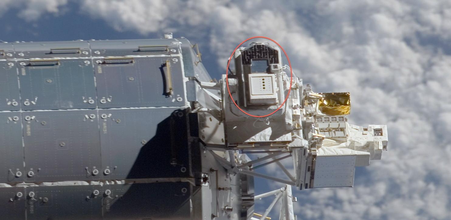 L'instrument SOLAR se situe sur le module européen Columbus, sur l'ISS.