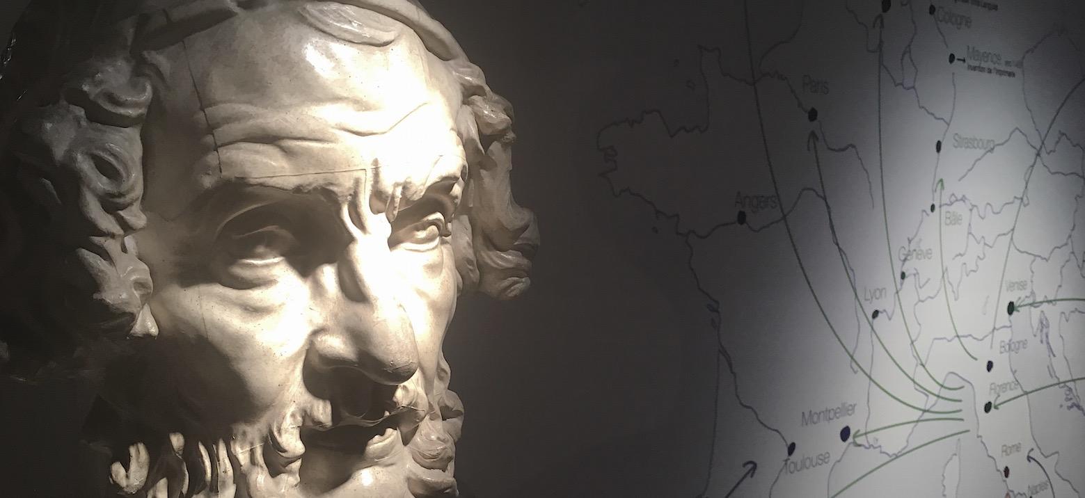 """Exposition """"Un humanisme à réinventer, 500 ans d'études classiques à Louvain"""", Musée L."""