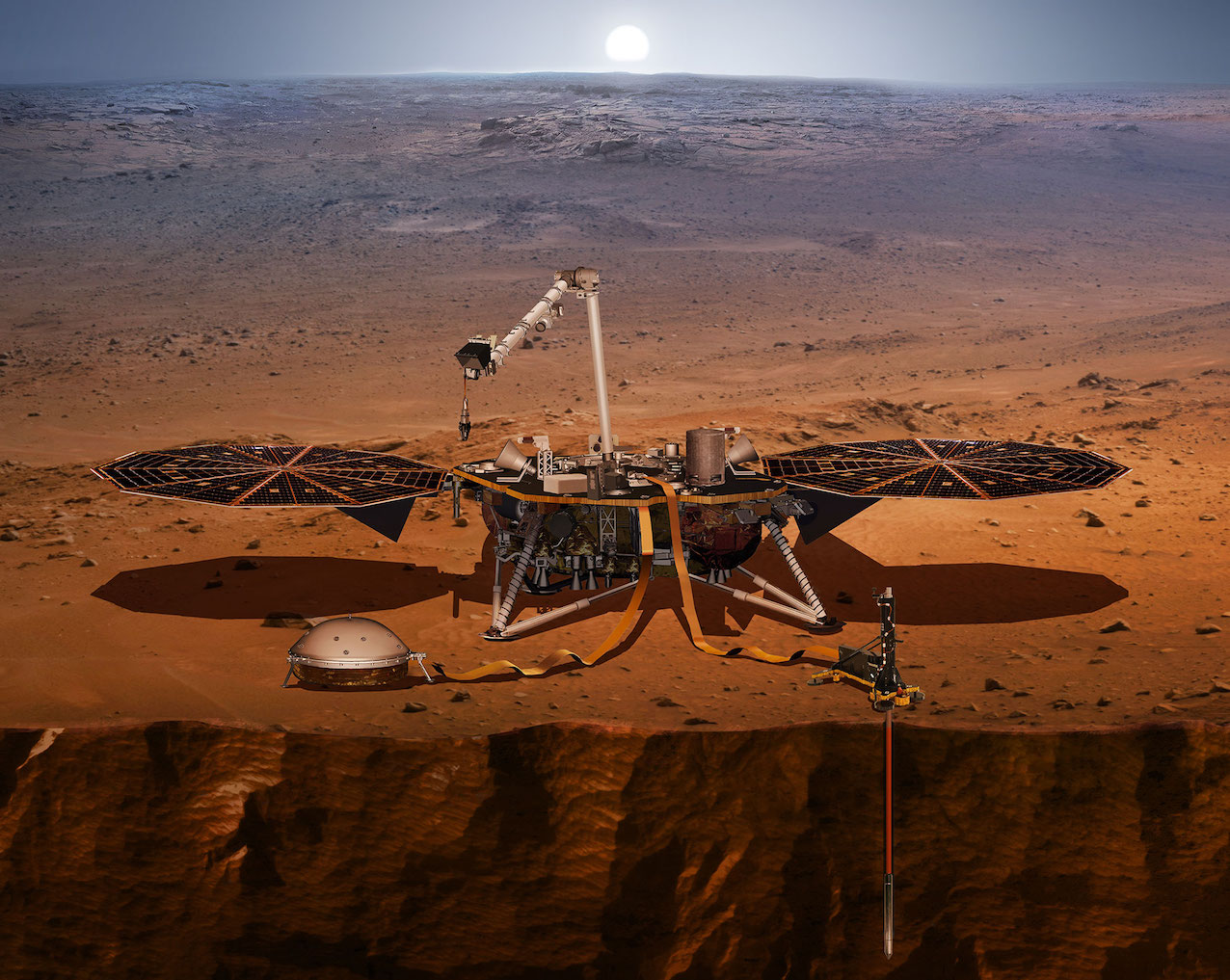 Sonde martienne InSIght © NASA/JPL