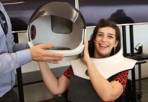 Expérience de réalité virtuelle pour Lieve Lambrechts au 21st Century Fox Innovation Lab à Los Angeles.