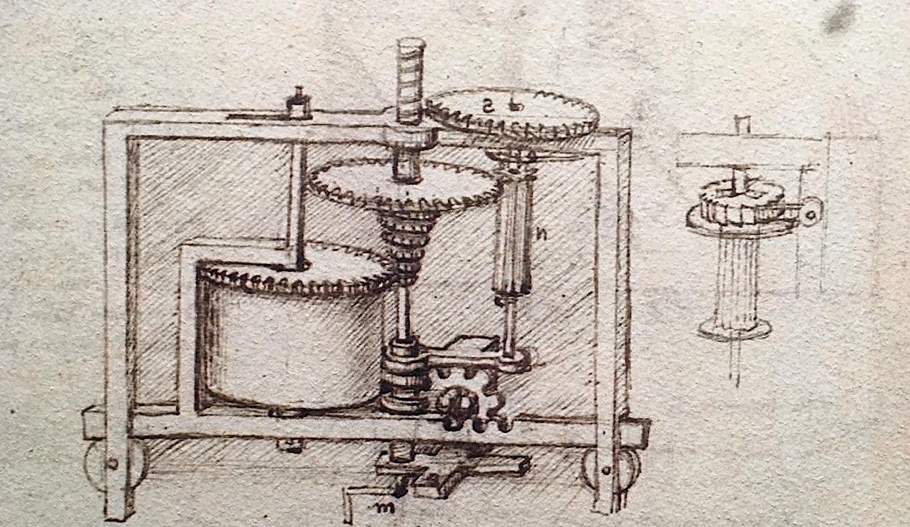 Les machines de Léonard da Vinci.