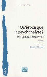 """""""Qu'est-ce que la psychanalyse?"""" par Pascal Nottet. Éditions modulaires (EME). VP 38,50€"""
