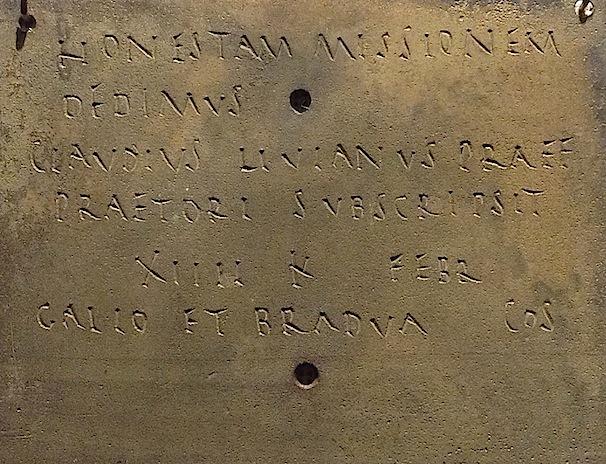 Han-sur Lesse, diplôme militaire romain © CDB