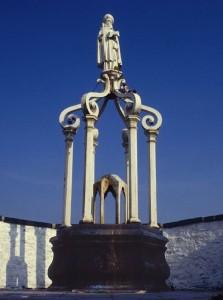Le puits était à l'origine une fontaine.