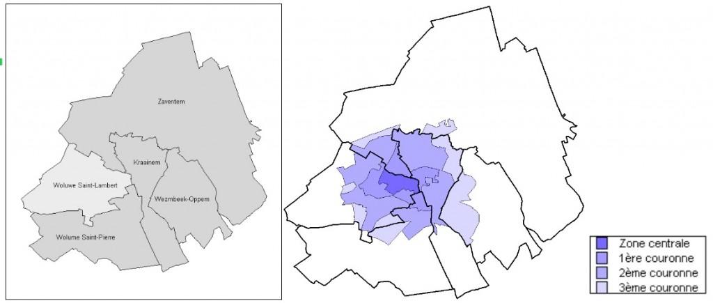 Zones d'influence de l'UCL/Woluwe sur la démographie locale