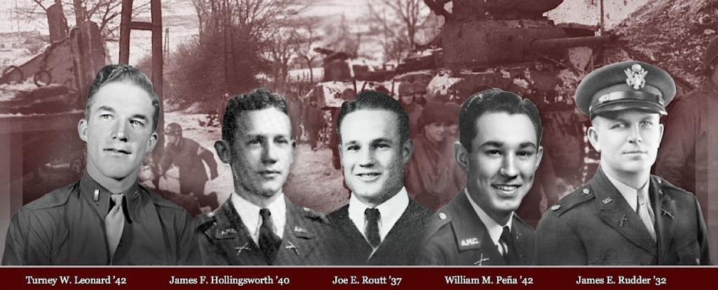 """Les cinq """"Aggies"""" qui illustrent la nouvelle exposition à Bastogne."""