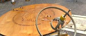Gyroscope didactique de SciTech 2, à Mons, en complément de l'expérience du pendule de Foucault.