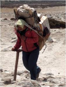 Acheminement  du matériel, Népal