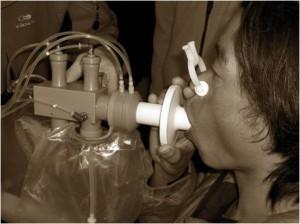 Test de diffusion gazeuse au pyramid laboratory, Népal