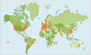 Où lit-on Daily Science? La carte donne un aperçu de la localisation de nos lecteurs.