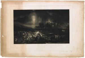 The Field of Waterloo, gravé par F.C. Lewis, d'après le tableau de J.M.W. Turner ©Bibliothèque royale de Belgique