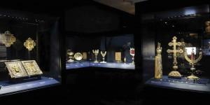 Salle du Trésor d'Oignies au TreM.a, le Musée des Arts anciens du Namurois.  © Guy Focant