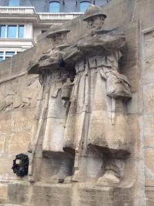 Monument d'hommage des Britanniques au peuple belge, Bruxelles. © Y.C. (Cliquer pour agrandir)