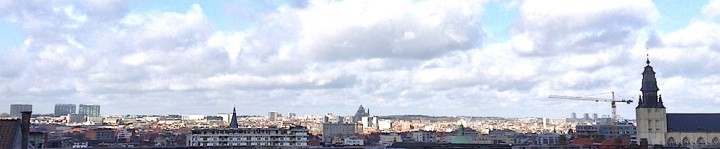 Panorama de Bruxelles depuis la place Poelaert
