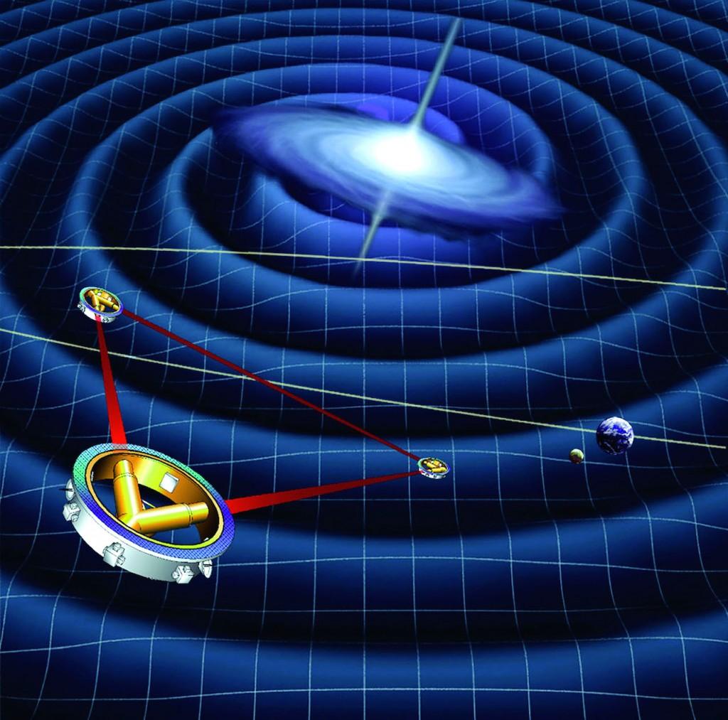 Lorsque les technologies que doit tester Lisa Pathfinder auront été validées, une mission scientifique encore plus ambitieuse devrait être envisagée par l'Agence spatiale européenne. Forte de trois engins travaillant en interférométrie et distants d'un million de kilomètres l'un de l'autre, ils seront les premiers à détecter en direct les ondes gravitationnelles dans l'espace. © ESA