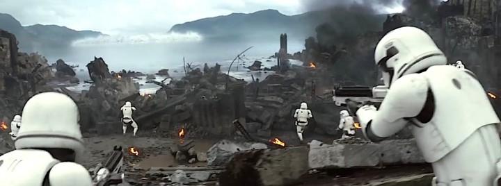 """Capture d'écran de la bande annonce """"Star Wars, le réveil de la Force""""."""