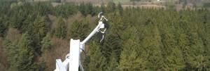 Capteurs de la tour à flux de Vielsalm.