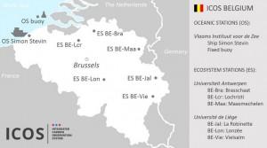 Le réseau ICOS en Belgique.