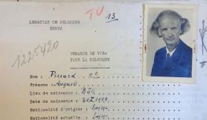 Auguste Piccard, demande de visa. (Cliquer pour agrandir)