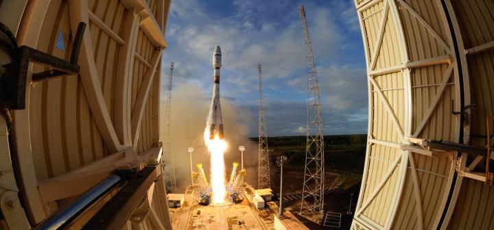 Lundi 25 avril, 18h02 locales, le lanceur Soyouz VS14 décolle de Kourou.©ESA-Manuel Pedoussant