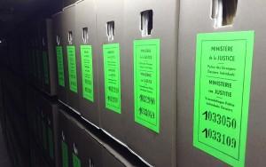 Les archives de la Police des Etrangers conservées aux AGR totalisent à ce jour 7 kilomètres de linéaires.