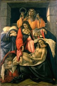 """""""La Lamentation sur le Christ mort » de Sandro Botticelli."""