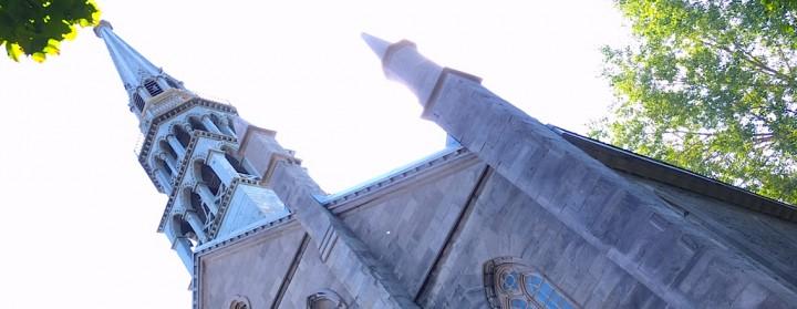 """Eglise St Jospeh transformée en espace de coworking, """"le Salon 1861"""", dans le Quartier de l'Innovation, Montréal (CA)"""