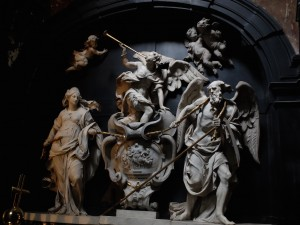 Intérieur de la Chapelle des Tour et Tassis, Eglise ND du Sablon à Bruxelles.