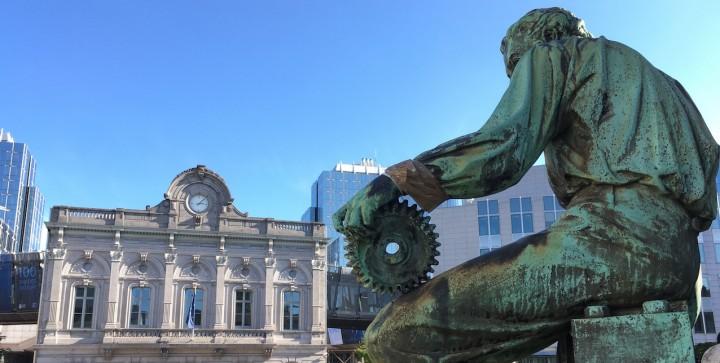 Bruxelles, place du Luxembourg.