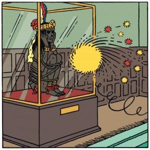 « Rascar Capac » dessiné par Hergé dans l'album des aventures de Tintin « Les sept boules de Cristal » © Hergé-Moulinsart 2017 (Cliquer pour agrandir)