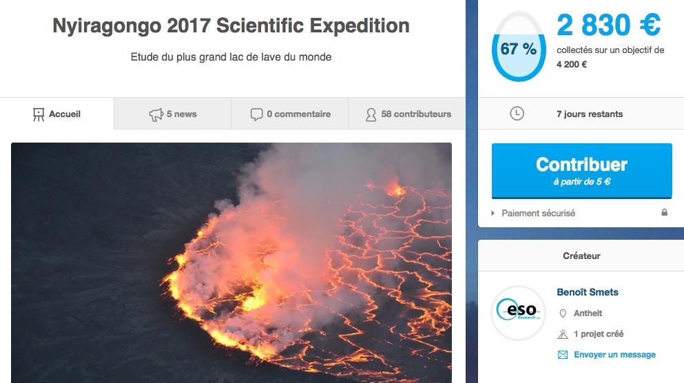 CF expedition volcan Afrique