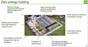 """Quelques autres innovations """"vertes"""" de la nouvelle usine d'IBA à Louvain-la-Neuve."""