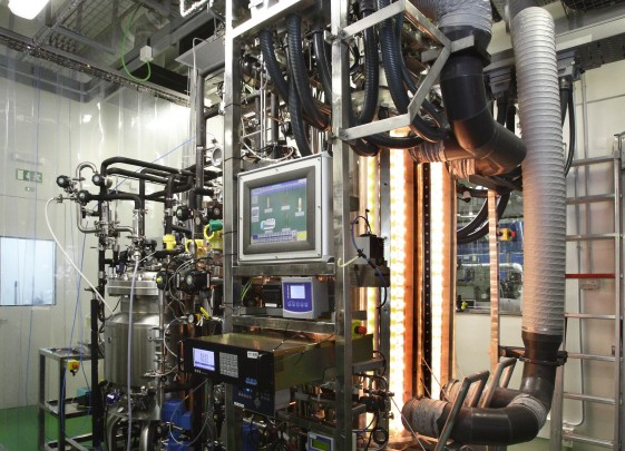 Installation pilote  MELiSSA qui tente de recréer une version simplifiée d'un écosystème aquatique terrestre  © ESA