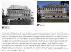 Namur, musée archéologique © IRPA